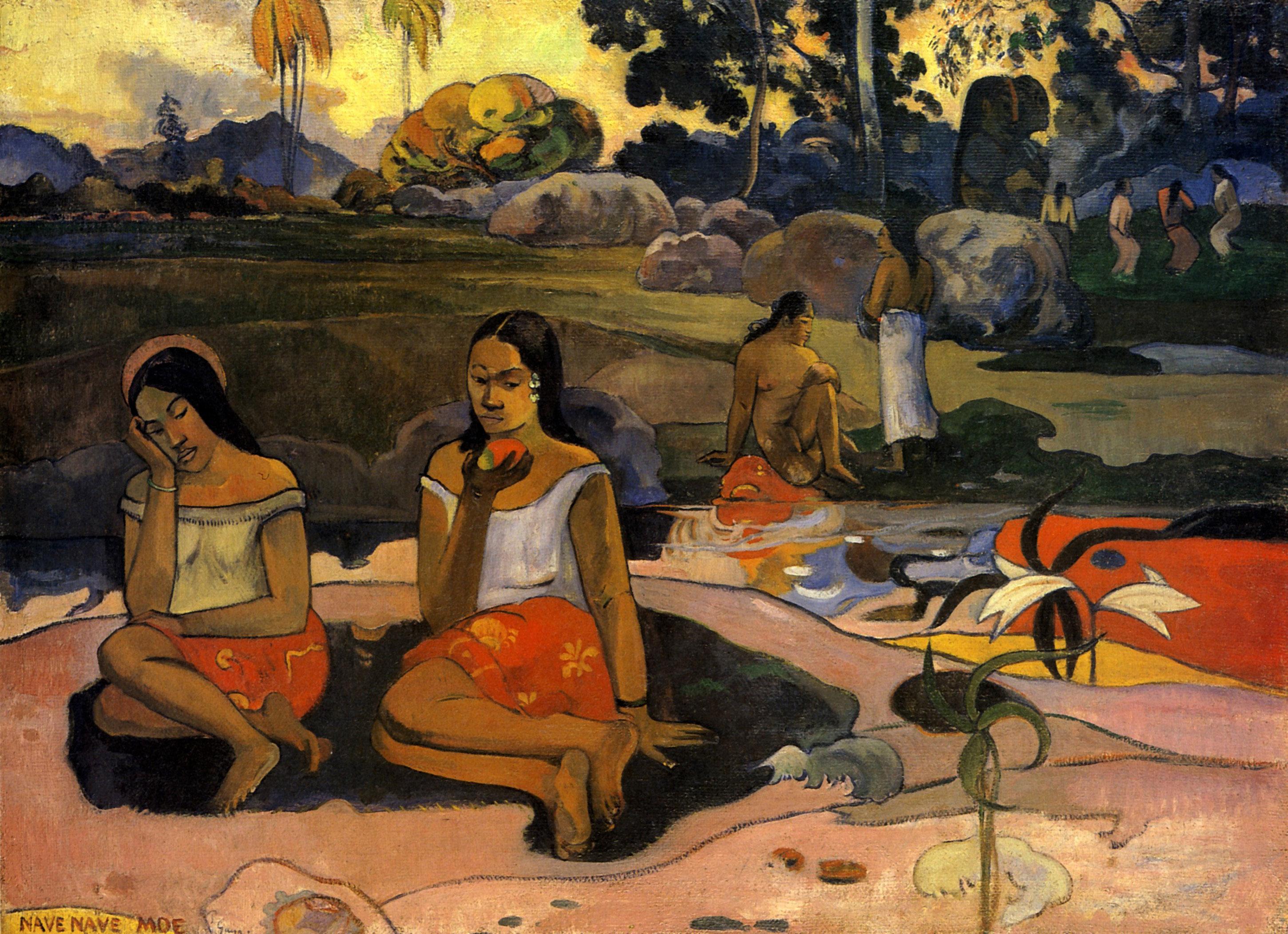 Paul Gauguin, Sacred Spring: Sweet Dreams (Nave nave moe), 1894, λάδι, Μουσείο Hermitage