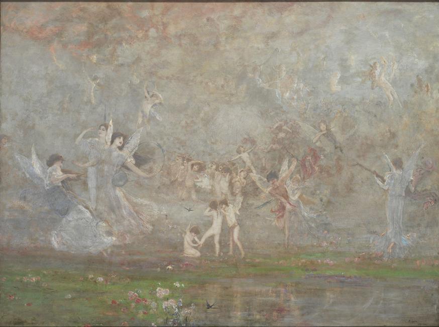Γύζης Νικόλαος, Εαρινή Συμφωνία, 1886, Λάδι σε μουσαμά , 102 x 139 εκ.