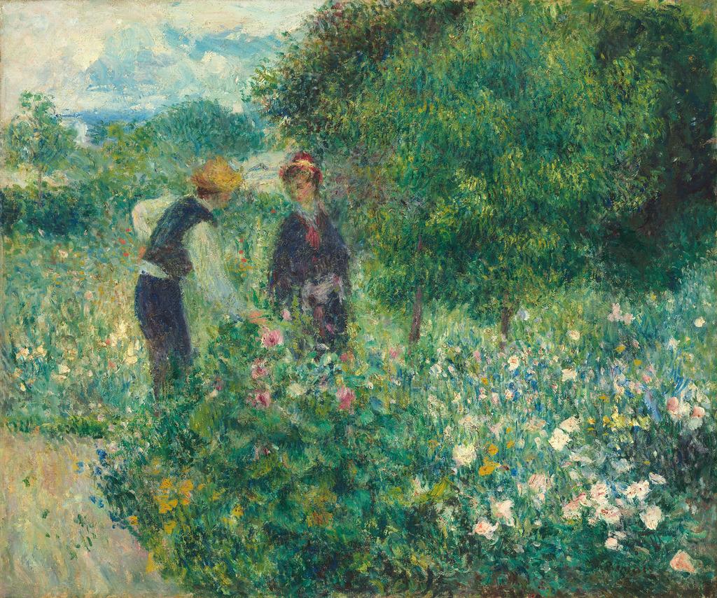 Pierre-Auguste Renoir, Μαζεύοντας Λουλούδια, 1875, λάδι, National Gallery of Art, Η.Π.Α