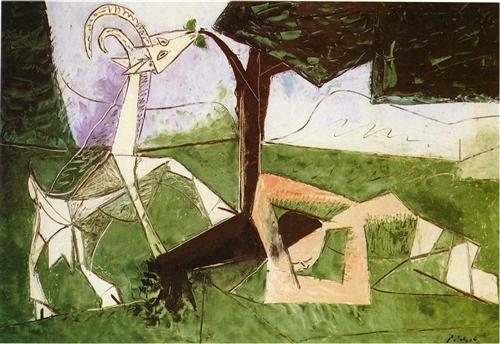 Pablo Picasso, Άνοιξη, 1956, λάδι.
